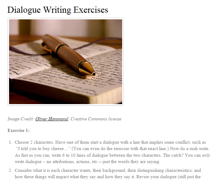 creative writing now and then topics Creative writing tips and ideas for fiction, poetry, and creative nonfiction then you deserve to put down your notebook or step away from that work-in.